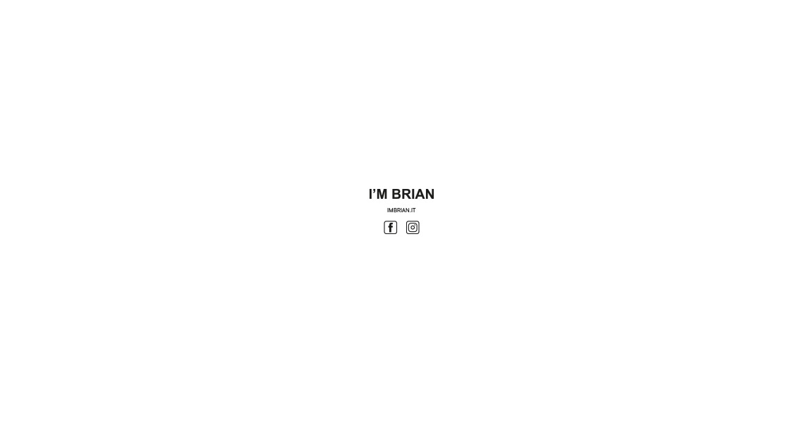 I'M BRIAN FW 17/18